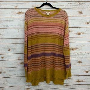 Sundance Striped Wool Mohair Blend Sweater
